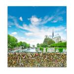Love Locks in Notre Dame Art Print