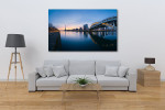 Panoramic River of Paris Art Print on the wall