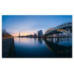 Panoramic River of Paris Art Print