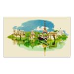 Panoramic View Watercolor Art Print