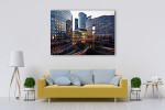Paris Business District Art Print on the wall