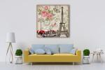 Paris Retro Canvas Art Print on the wall