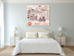 Paris Symbols Wall Art Print on the wall