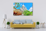 Sacre Coeur Cathedral Wall Art Print on the wall