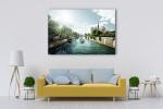 Seine and Notre Dame de Paris Art Print on the wall