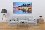 Skyline View of Paris in Twilight Art Print on the wall