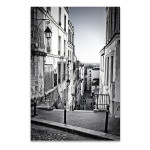 Staircase in Montmartre Hill Art Print