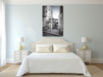 Staircase in Montmartre Hill Art Print on the wall