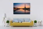 Sun Rises in Paris Art Print on the wall
