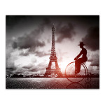 Tall Tower Big Bike in Paris Art Print