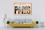 Vintage Paris Tourist Spots Art Print on the wall