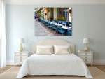 Vintage Restaurants in France Art Print on the wall
