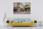 Walk with me in Streets of Paris Art Print on the wall