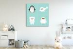 Artic Polar Animal Art Print on the wall