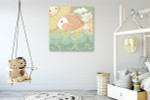 Colorfully Fish Canvas Art Print on the wall