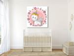 Cute Unicorn Canvas Art Print on the wall