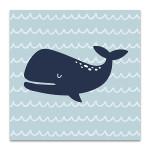 Cutie Whale Wall Art Print