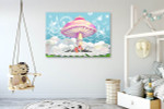 Happy Life Castle Art Print on the wall