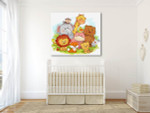 Jungle Animals Art Print on the wall