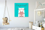 Lovely Cats Art Print on the wall