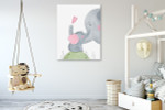Loving Mom Canvas Art Print on the wall