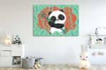Panda in Bamboo Forest Art Print on the wall