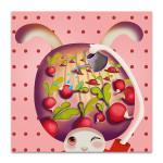 Rabbit Gardening Art Print