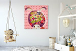 Rabbit Gardening Art Print on the wall