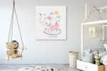 Sailor Elephant Wall Art Print on the wall