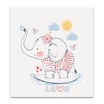 Sailor Elephant Wall Art Print