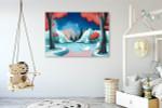 Swan Lake Story Art Print on the wall