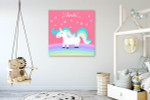 Unicorn For Kids Art Print on the wall