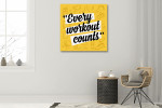 Fitness Motivation Art Print on the wall