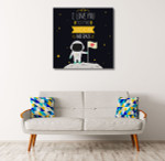 I Love You Art Print on the wall