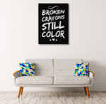 Motivation Quote Art Print on the wall