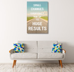 Small Changes Canvas Art Print on the wall