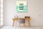 Start Day Grateful Art Print on the wall