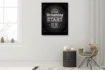 Stop Dreaming Start Doing Art Print on the wall