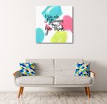 You Are Strong Wall Art Print on the wall