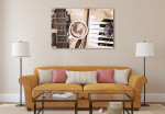 Artwork in Vintage Art Print on the wall