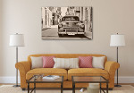 Classic American Car Art Print on the wall