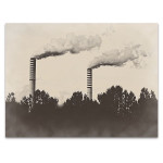 Factory Plant Wall Art Print