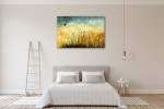 Fields Vintage Art Print on the wall