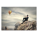Gentleman At Mountain Art Print