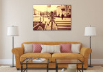 Girl Hipster Art Print on the wall