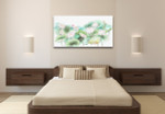 Waterlily Sketches Art Print on the wall