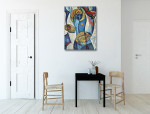 Art of Cubism Canvas Print on the wall