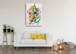 Fruits Cubism Wall Art Print on the wall