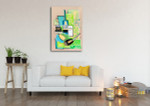 Green Cubism Manner Art Print on the wall