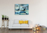 Killer Whales Canvas Art Print on the wall